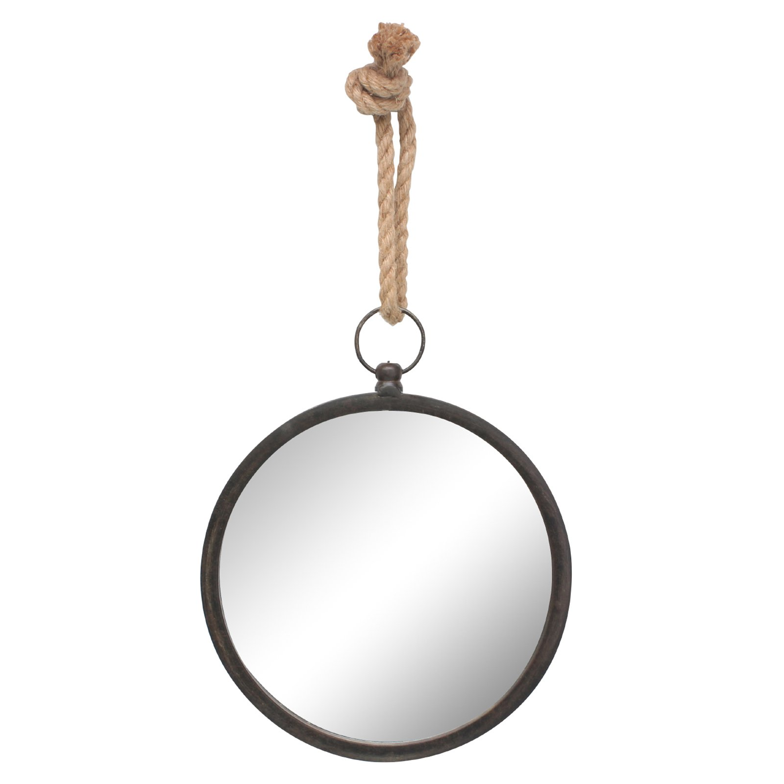 Stonebriar Collection Small Round Nautical Wall Mirror by CKK HOME DECOR