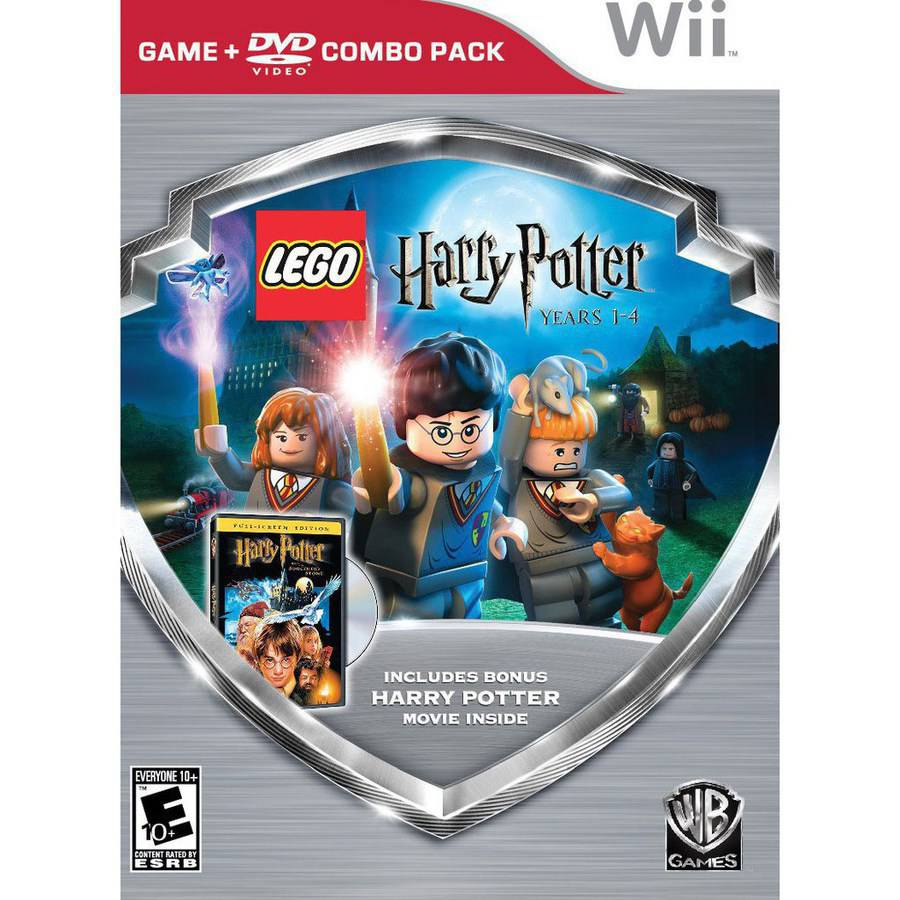 LEGO HARRY POTTER:1-4 GAME/HP SORCERERS MOVIE DVD (WS) COMBO PK WII ACTION