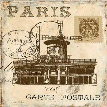 Paris Collage Sq IV Poster Print by Gregory Gorham (24 x 24)