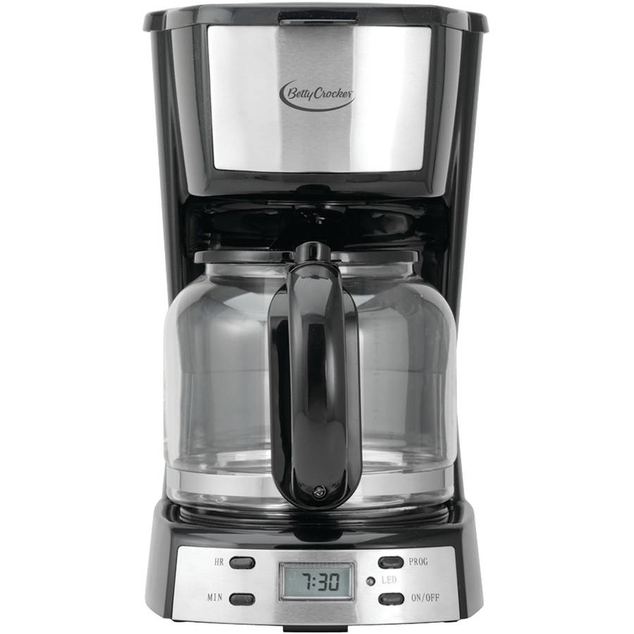 Betty Crocker 12-Cup Stainless-Steel Coffee Maker