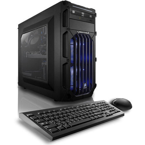 CybertronPC Blue Palladium 970Z Desktop PC with Intel Core i7-6700 Quad-Core Processor, 16GB Memory, 1TB Hard Drive and Windows 10 Home (Monitor Not Included)