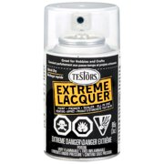 Testors One Coat Lacquer Paint, 3 oz. Spray Can, Wet Look Clear