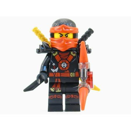 Red Lego Ninja (LEGO Ninjago Deepstone Kai Ninja Minifigure Red Aeroblade Swords NEW)