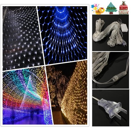 9.8 x 6.5FT 110V 210 LED Birthday Wedding Party Light Strip Bar Banquet Home Curtain Garden Tree Window Fairy Net Decoration Indoor Outdoor Christmas Halloween Decor MATCC US