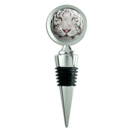 - White Bengal Tiger with Blue Eyes Wine Bottle Stopper