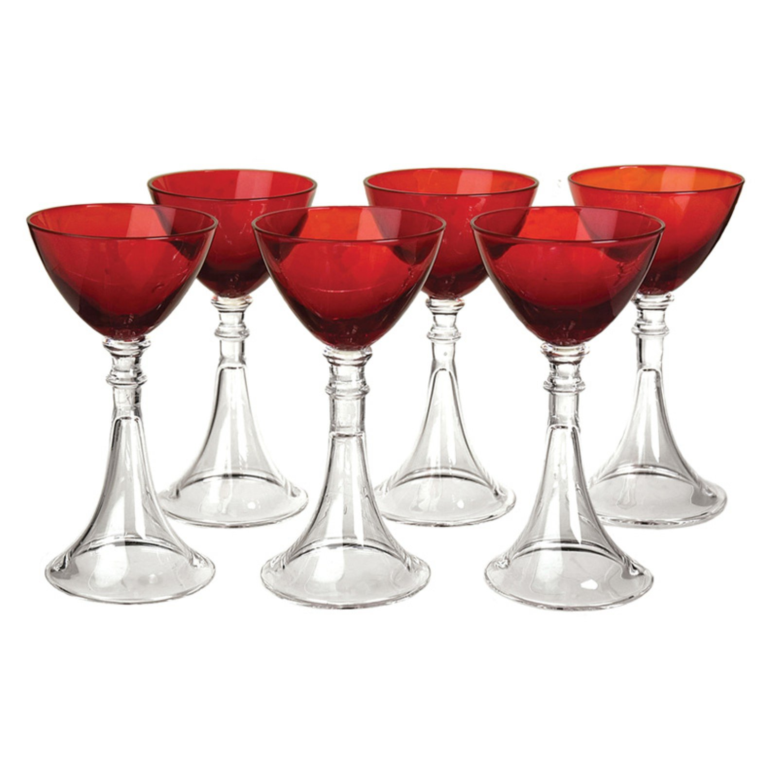 Artland Veranda Ruby Cordial Glass Set of 6 by Artland