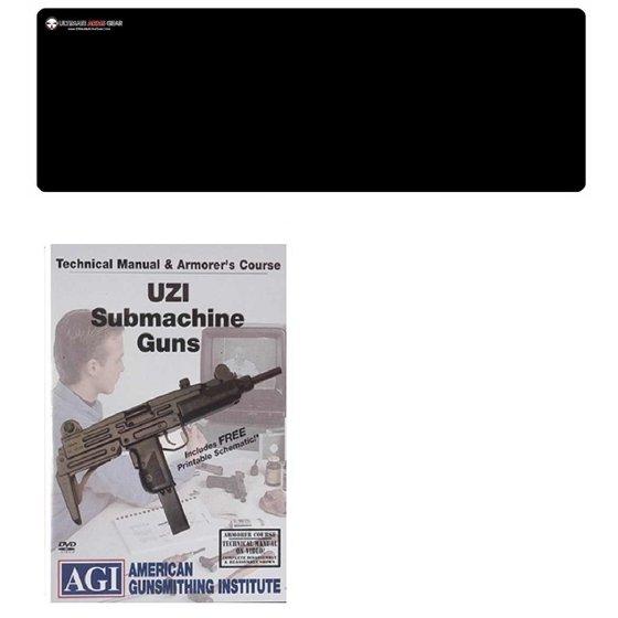 american gunsmithing institute dvd manual & armorer's course uzi submachine  gun + ultimate arms gear gunsmith & armorer's cleaning bench gun mat -  walmart