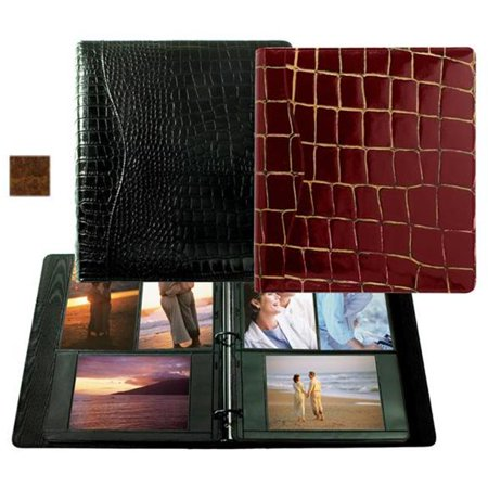 Raika VI 161 COGNAC 8in. x 11in. Combination Ring Binder Photo Album - Cognac