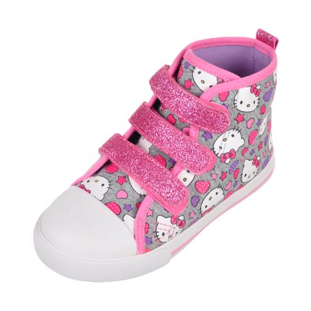 Hello Kitty Girls' Hi-Top Sneakers (Toddler Sizes 5 - 10) - Hello Kitty High Heels