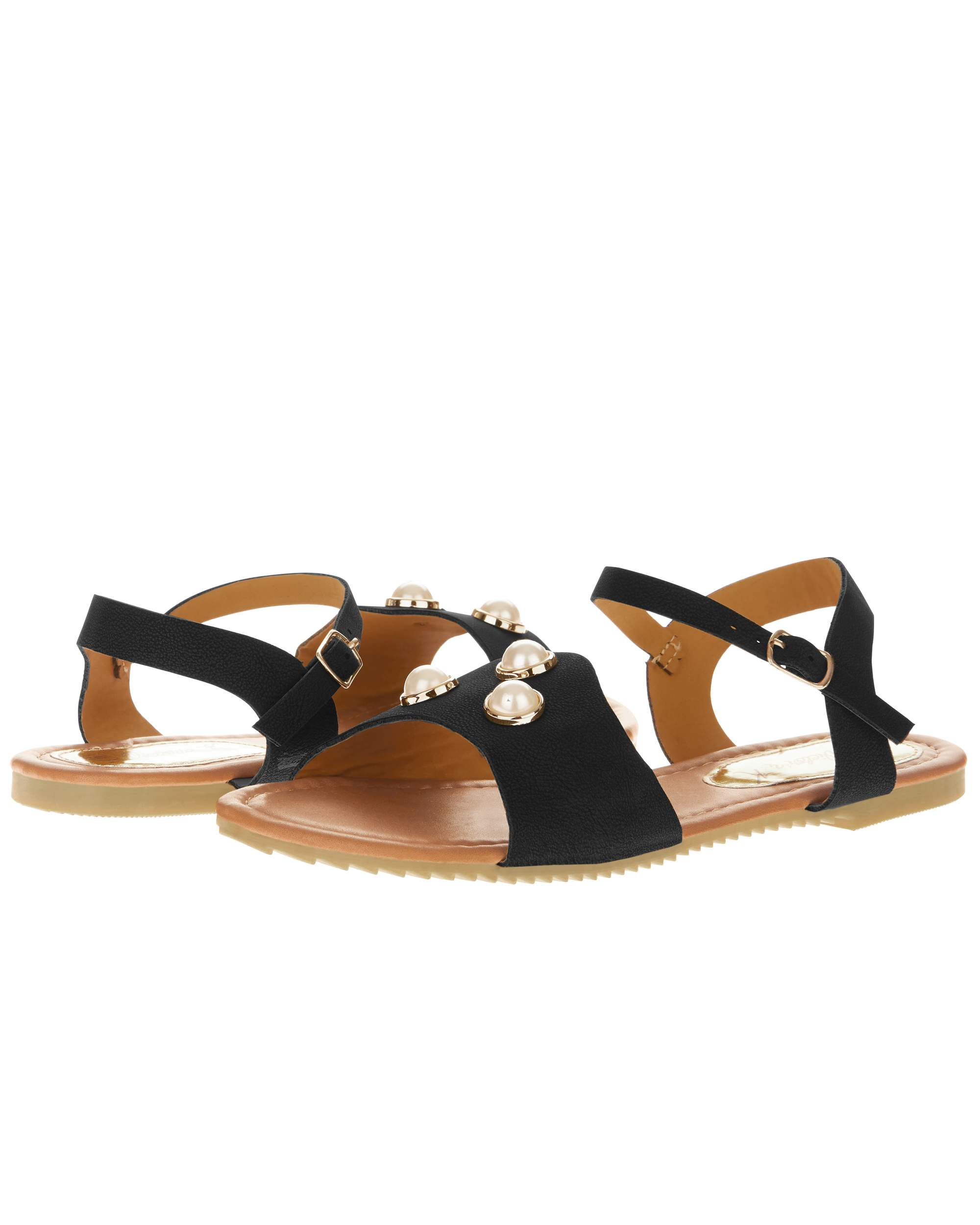 Victoria K Women's Three Pearls Sandals