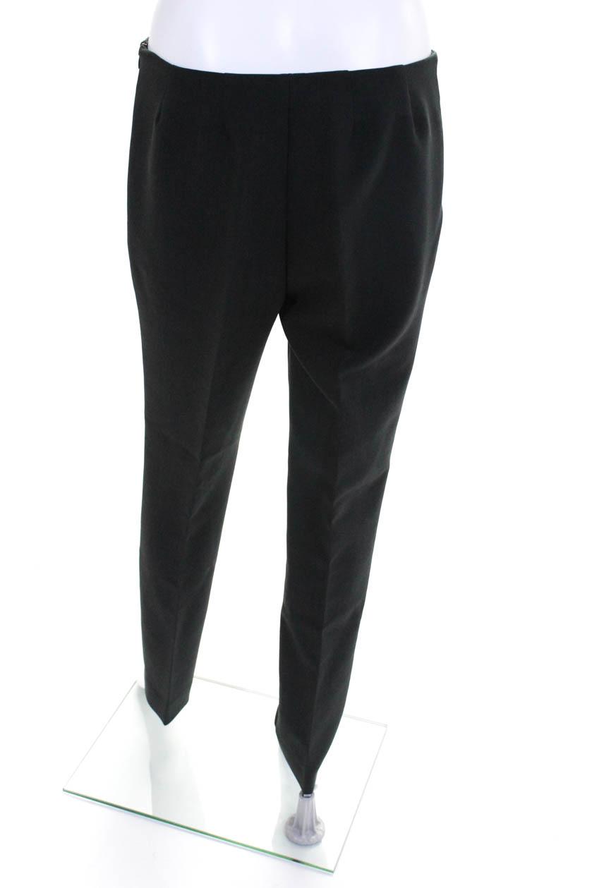 Domenico Vacca Womens Skinny Leg Florentino Dress Pants Grey Size 6