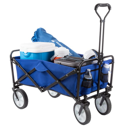 Folding Wagon – All-Terrain Utility Pull Wagon, For Camping by Wakeman Outdoors