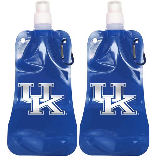 NCAA 16 oz Kentucky Wildcats Foldable Water Bottle Set, 2pk