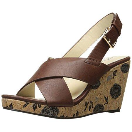 Brown Espadrille - Annie Shoes Women's Hypo Drive W Espadrille Wedge Sandal, Brown, 11 W US