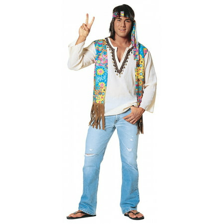 60s Hippie Dude Adult Costume - X-Large
