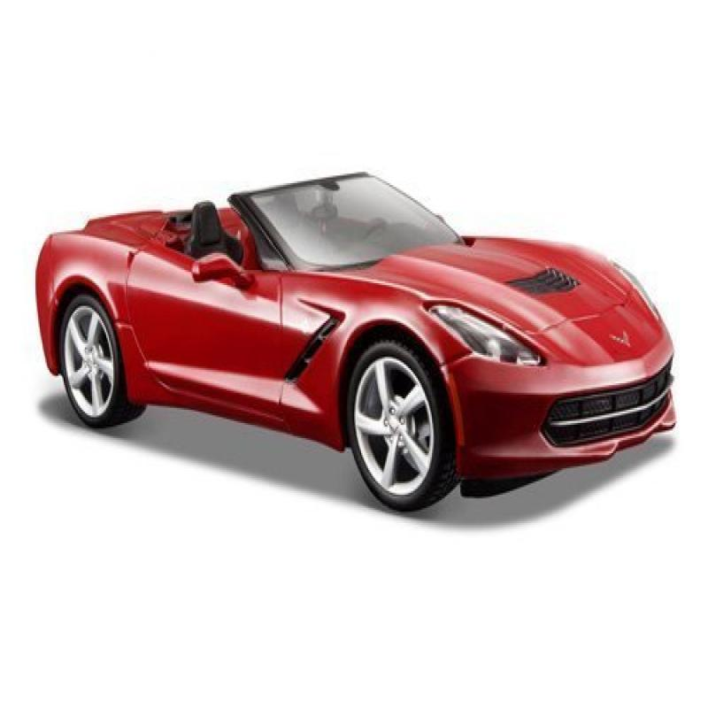 2014 Chevrolet Corvette C7 Convertible Metallic Red 1 24 by Maisto 31501 by