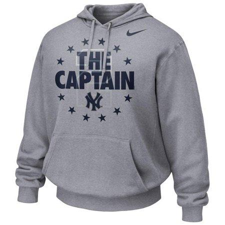 Men's Nike Derek Jeter Gray New York Yankees The Captain Hoodie