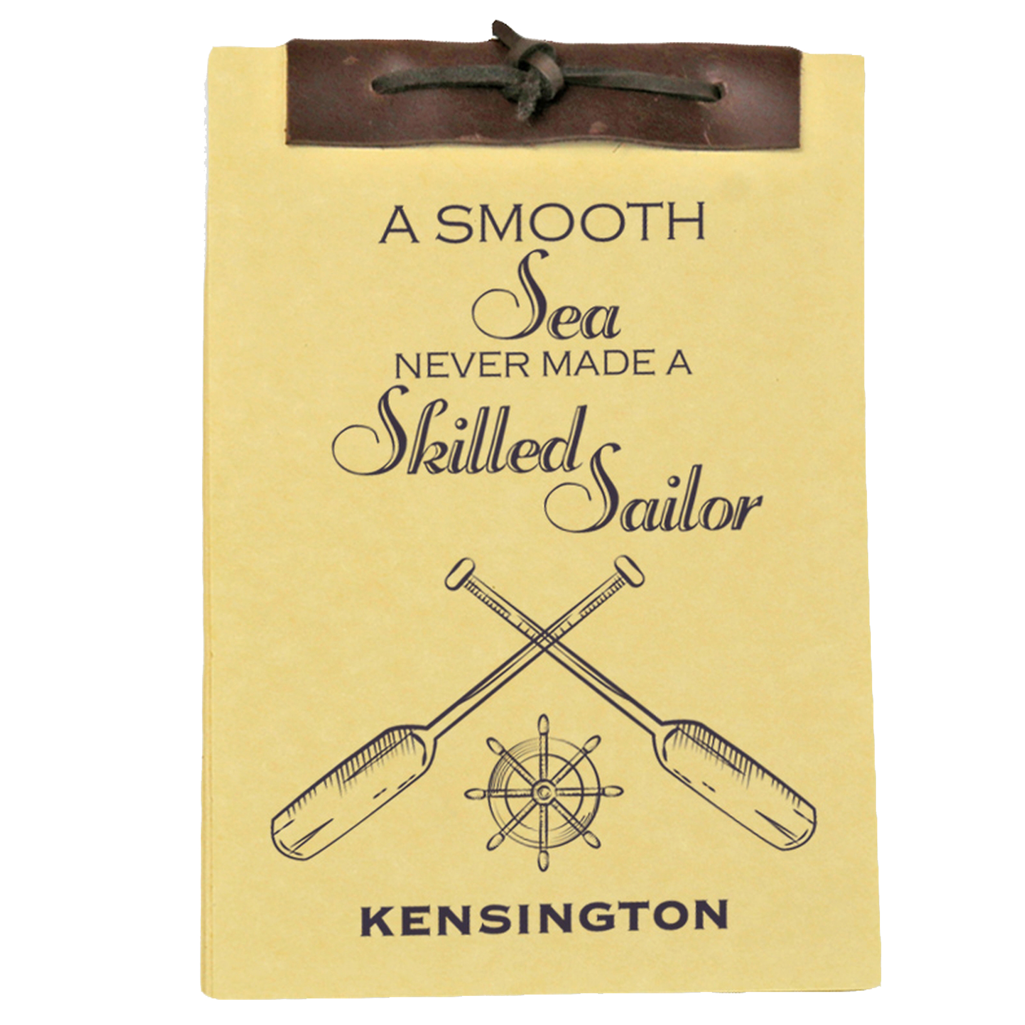 A Smooth Sea Antique Style Personalized Notebook 8.5 x 5.5 inches