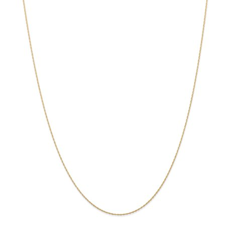 Roy Rose Jewelry 14K Yellow Gold Cable Rope Chain (CARDED) Necklace ~ Length 24'' - Rose Gold Rope