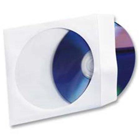 Compucessory CCS26501 CD-DVD Window Envelopes- 5inchx5inch- White