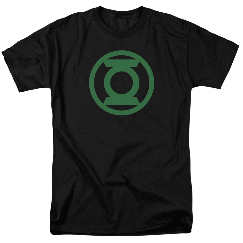 Green Lantern Green Emblem Mens Short Sleeve Shirt