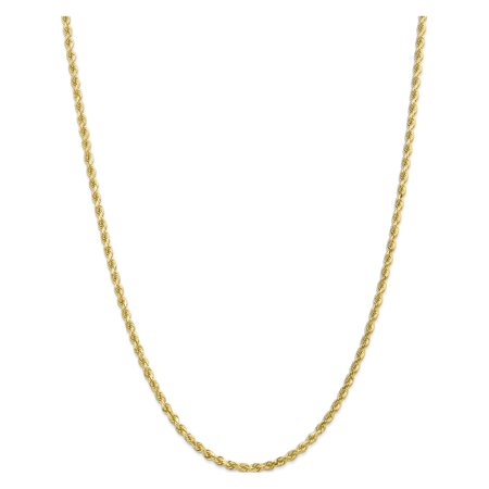 10k Yellow Gold 3mm Handmade Diamond-cut Rope Chain - image 5 of 5