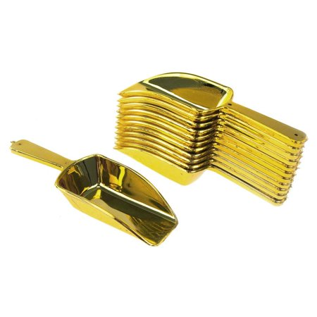 Plastic Candy Scoops Serving-ware, 3-1/4-inch, 12-Piece, Gold