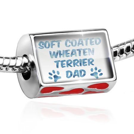 Bead Dog & Cat Dad Soft Coated Wheaten Terrier Charm Fits All European Bracelets