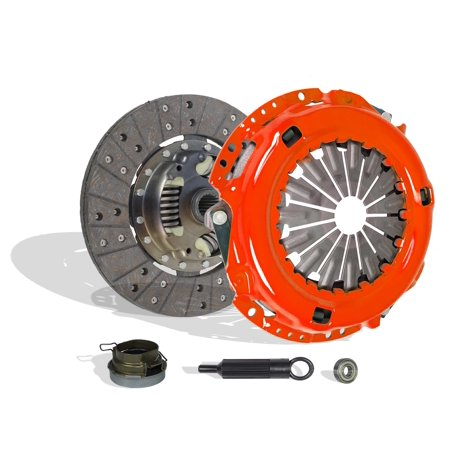 Clutch Kit Works With Toyota Tacoma 4Runner Suv T100 Pre Runner Base DLX Standard Sport 1994-2004 2.4L l4 (4WD ONLY) 2.7L l4 GAS DOHC (Clutch Disc Stage 1)