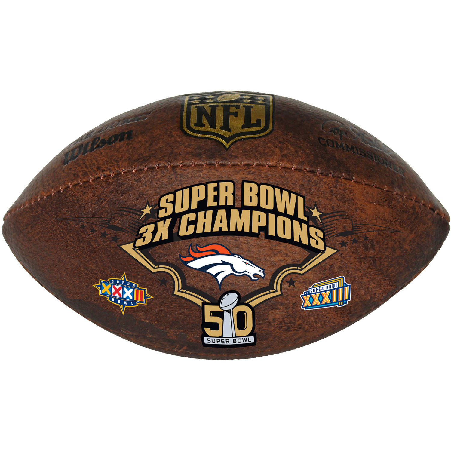 "Wilson Commemorative Championship 9"" Football, Denver Broncos"