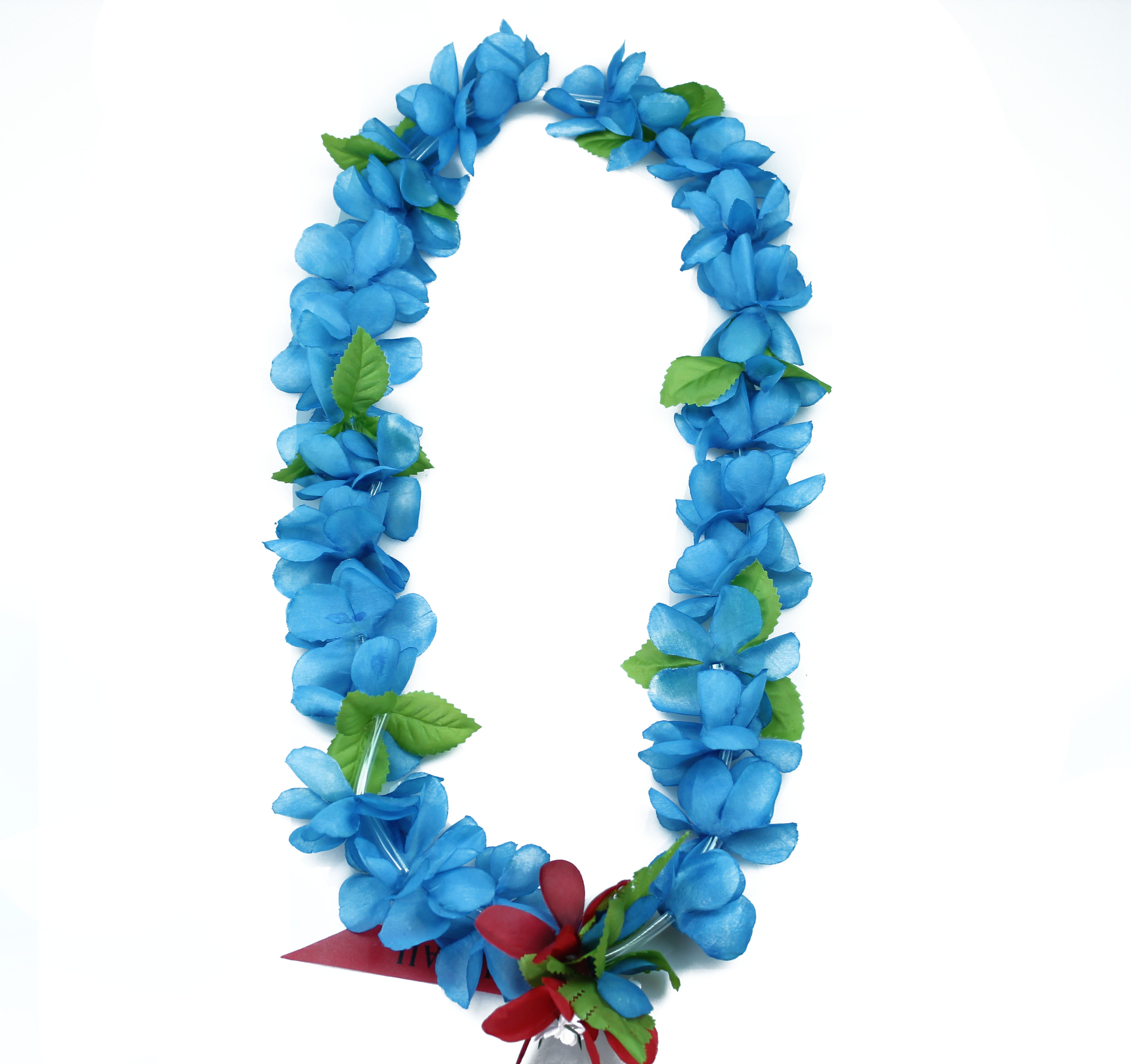 Hawaii Luau Party Artificial Fabric Princess Plumeria Lei Blue 12 Pack
