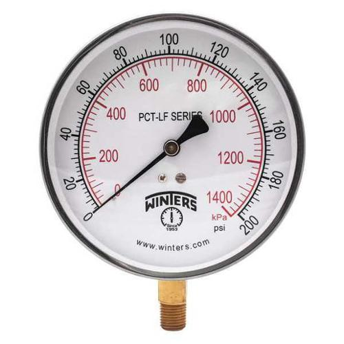 "Winters Pressure Gauge 1/4"" NPT 0 to 100 psi 2-1/2"" PFQ804LF"
