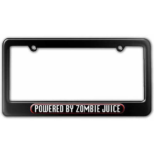 Powered By Zombie Juice License Plate Tag Frame, Multiple Colors