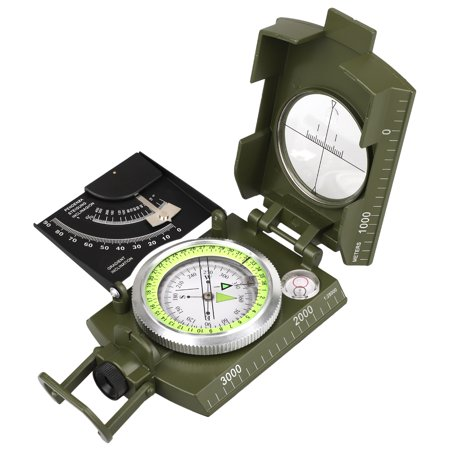 Professional High Accuracy Compass with Sighting Clinometer,Portable Military Compass Metal Camping Compass Waterproof with Carry Bag for Camping Hunting Hiking Geology (Se Cc4580 Military Prismatic Sighting Compass With Pouch)