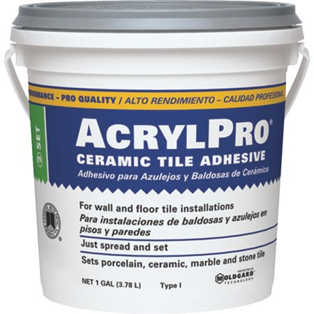 AcrylPro Ceramic Tile Mastic Ceramic Tile Wood Box