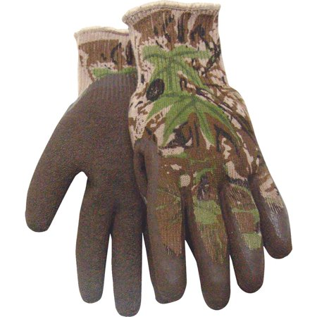 Large Camo Gripper Glove 397-L-AP (Camouflage Lined Gloves)