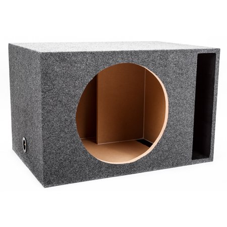 "Skar Audio Single 18"" Universal Fit Vented Subwoofer Enclosure with 1"" MDF Heavy Duty Front Baffle - Charcoal Carpet"