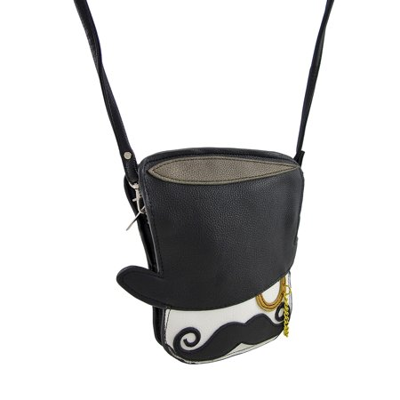 The Gentleman Top Hat, Mustache, Monocle Cross Body Purse ...