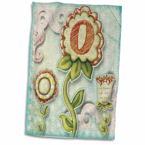 Symple Stuff Granli Cute Quirky Flowers Monogram Letter O Hand Towel