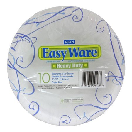 New 821168  Easy Ware Paper Bowls 20Oz 10Ct (16-Pack) Plate Cheap Wholesale Discount Bulk Party Supplies Plate 5