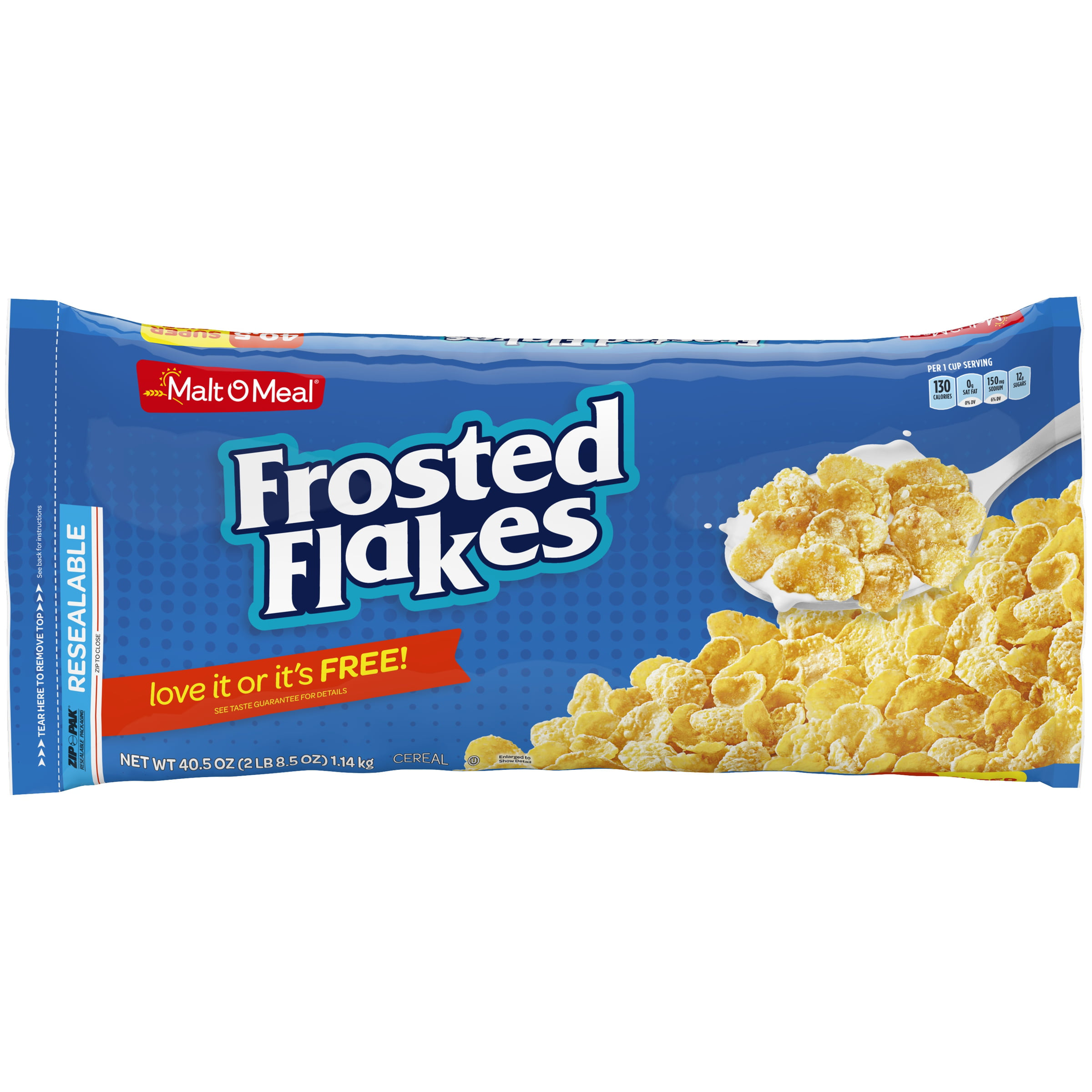 Malt-O-Meal Breakfast Cereal, Frosted Flakes, 40.5 Oz