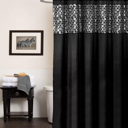 Bed Bath N More Classic Black And Silver Tile Patchwork