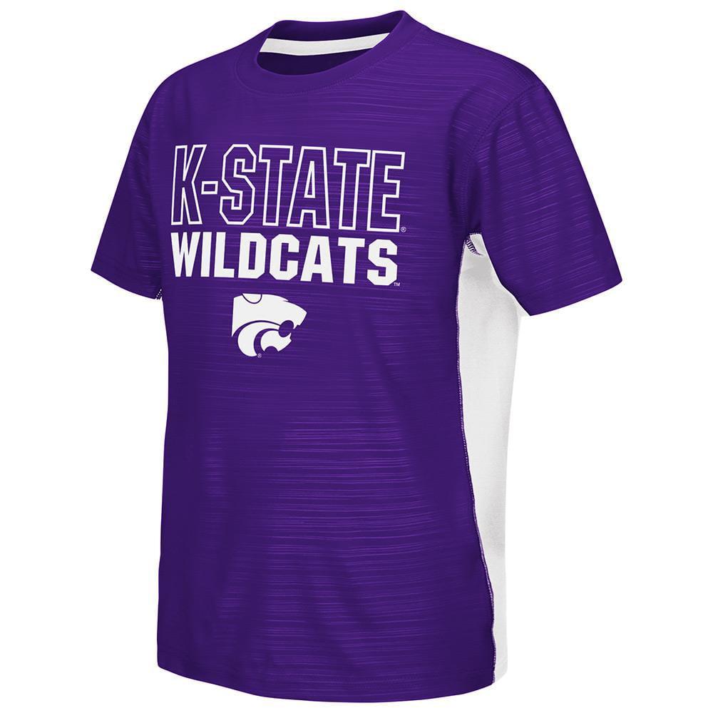 Youth NCAA Kansas State Wildcats Short Sleeve Tee Shirt (Team Color)