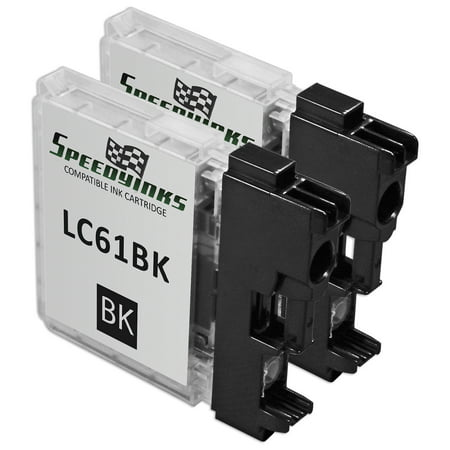 Speedy Inks - 2PK Brother Compatible LC61Bk Black Ink cartridge. LC61 Series for use in DCP-165c, DCP-375CW, DCP-385CW, DCP-395CN, DCP-585CW, DCP-J125, DCP-J140W, MFC-250C, MFC-255CW, MFC-290C 2 Pack Brother Compatible LC61Bk Black Ink cartridge. (LC61 Series) for use in DCP-165c, DCP-375CW, DCP-385CW, DCP-395CN, DCP-585CW, DCP-J125, DCP-J140W, MFC-250C, MFC-255CW, MFC-290C, MFC-295CN, MFC-490CW, MFC-495CW, MFC-5490CN, MFC-5895cw, MFC-790CW, MFC-795CW, MFC-990CW, MFC-J220, MFC-J265W, MFC-J270W, MFC-J410W, MFC-J415W, MFC-J615W, & MFC-J630W