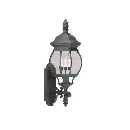Outdoor Sconce Finish - Sea Gull Lighting 88202-12 Outdoor Sconce with Clear Glass Shades Black Finish