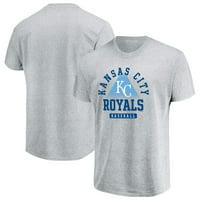 Men's Majestic Gray Kansas City Royals Beam Me Up T-Shirt