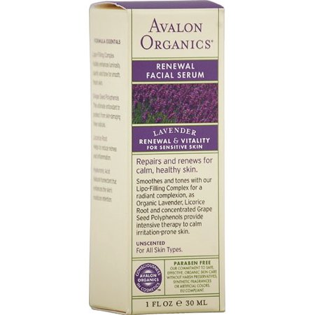 Avalon Organics Renewal Facial Serum, Lavender, 1 Oz