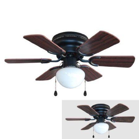 Oil Rubbed Bronze Wood Blade - Hardware House 17-4640 Arcadia 30-Inch Oil Rubbed Bronze Flush Mount Hugger Ceiling Fan, Cherry or Walnut Blades