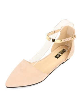 89c85b188b5e Product Image Women s Ballet Flats Shoes Pointed Toe Ankle Strap Shoes  Casual Sandals Size9
