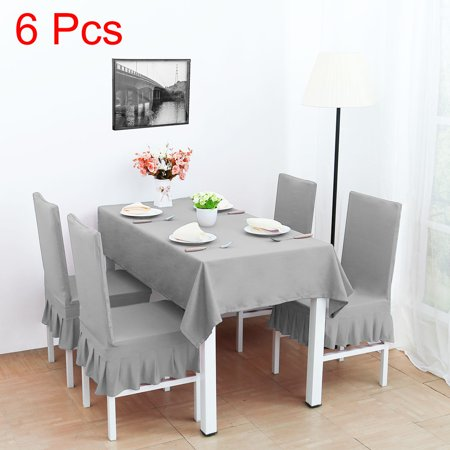 Super Spandex Stretch Washable Dining Chair Cover Protector Slipcover Silver Gray Uwap Interior Chair Design Uwaporg